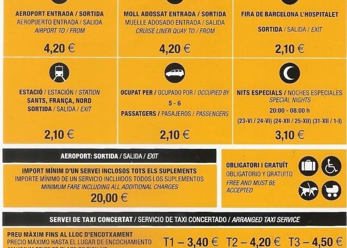 Nuevas Tarifas del Taxi 2014 en Barcelona y Interurbanas