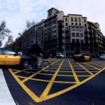 Paseando en taxi por la ciudad de BArcelona