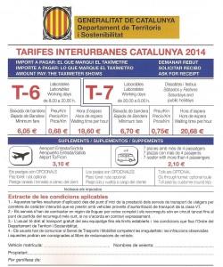 Tarifas Taxi de Carretera 2014